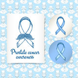 Sketch prostate cancer poster and lables Stock Image