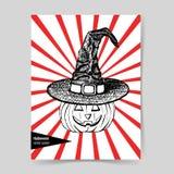 Sketch pumpkin in hat Stock Photo