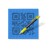 Sketch QR-code Stock Photography