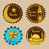 Sketch Ramadan emblems royalty free illustration