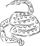Sketch of rattlesnake Royalty Free Stock Photography