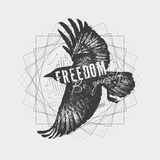 Sketch of a raven. Royalty Free Stock Photography
