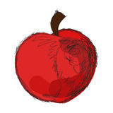 Sketch of red apple Royalty Free Stock Images