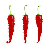 Sketch of red chili peppers Stock Photos