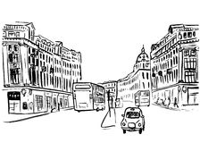 Sketch of Regent Street Royalty Free Stock Photography