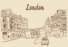Sketch of Regent Street Royalty Free Stock Photos
