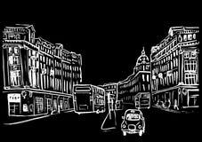 Sketch of Regent Street Stock Image
