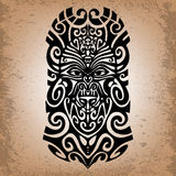 Sketch, Religious mask, magical symbol, tattoo. Royalty Free Stock Images