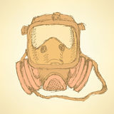 Sketch respiratory mask in vintage style Stock Photos