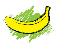 Sketch of ripe banana  Royalty Free Stock Images