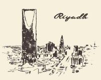 Sketch of Riyadh skyline vector illustration drawn Stock Images