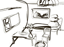 Sketch of the room in vector Royalty Free Stock Photography