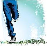 Sketch of Running man Stock Photos