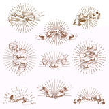 Sketch Sale Vintage Ribbon Collection Royalty Free Stock Image