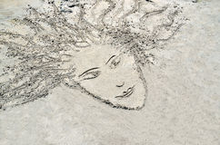 Sketch in the sand Stock Photography