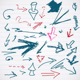 Sketch of scrawl Arrows Stock Photography