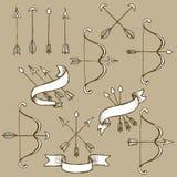 Sketch set of arrows Royalty Free Stock Photo