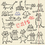 Sketch set of cats for your design Stock Photography
