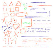 Sketch set of colorful vector Stock Photography