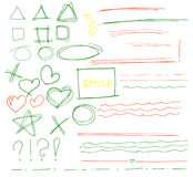 Sketch set of colorful vector Royalty Free Stock Photos