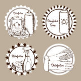 Sketch set of disinfection logo Stock Images