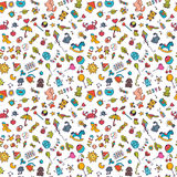 Sketch set of drawings in child style. Doodle children background. Seamless pattern for cute little girls and boys. Vector illustration Royalty Free Stock Photo