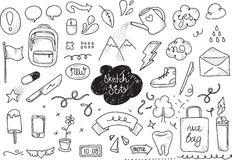 Sketch set. Hand drawn vector elements Royalty Free Stock Photography