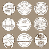 Sketch set of tools' logotypes Royalty Free Stock Images