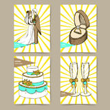 Sketch set of wedding posters Stock Image
