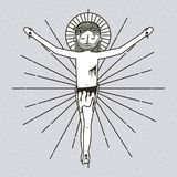 Sketch sf the ascension of jesus christ. Vector illustration Stock Photo