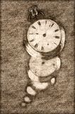 Sketch Showing Infinity and the Never Ending Progression of Time. Sketch Showing Infinity and the Never Ending Relentless Progression of Time stock illustration