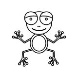 Sketch silhouette cartoon cute toad amphibian Stock Photography