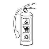 Sketch silhouette fire extinguisher icon Royalty Free Stock Photography