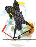 Sketch of Skater Royalty Free Stock Image