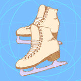 Sketch skating shoes in vintage style. Vector Stock Photos