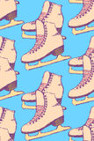 Sketch skating shoes in vintage style Royalty Free Stock Photos