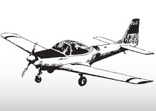 Sketch of small private plane Royalty Free Stock Images
