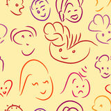 Sketch smiles Royalty Free Stock Photography