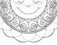 Sketch of smiling sun Stock Photography