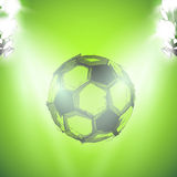 Sketch Soccer ball and lightstage Stock Image