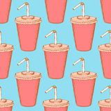 Sketch soda cup in vintage style Royalty Free Stock Photo