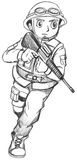 A sketch of a soldier Royalty Free Stock Photos