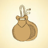Sketch spanish castanet in vintage style Stock Photos