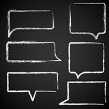 Sketch of speech bubbles chalked Royalty Free Stock Photos