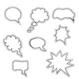 Sketch speech bubbles, patch Royalty Free Stock Photography