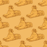 Sketch Sphinx monument in vintage style Royalty Free Stock Images