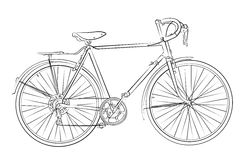 Sketch of sports bicycle.