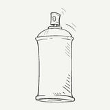 Sketch spray can Royalty Free Stock Photo