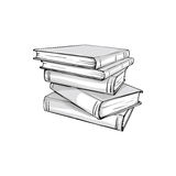 Sketch of a stack  books Stock Images