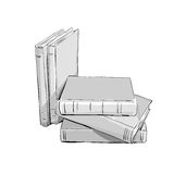Sketch of a stack  books Royalty Free Stock Photography